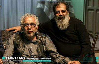 علیرضا کوشک جلالی امروز در تئاتر شهر تبریز به نمایش تیغ کهنه نشست + ویدیو