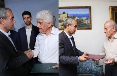 دیدار استاندار آذربایجان شرقی با دو هنرمند پیشکسوت استان