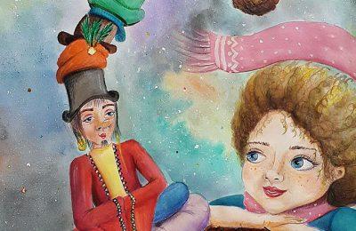 """نمایشگاه انفرادی """"مریم مسافری"""" با تکنیک های تصویرسازی کتاب کودک"""