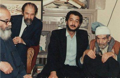 از راست: محمدحسین شهریار - اصغر فردی - جواد آذر - هوشنگ ابتهاج سایه