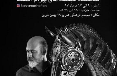نمایشگاه مجسمه های بهرام آشفته با عنوان پرواز خیال