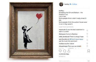 هنرمندی که تابلوی یک میلیون پوندی اش را خرد کرد