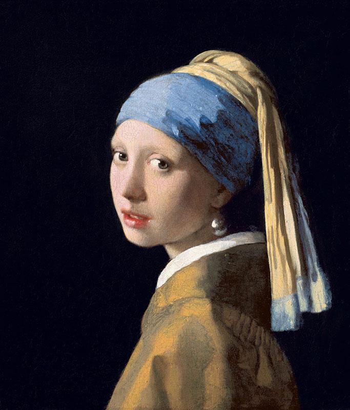 دختری با گوشواره مروارید - اثر یوهانس فرمیر (۱۶۳۲ - ۱۶۷۵ میلادی)