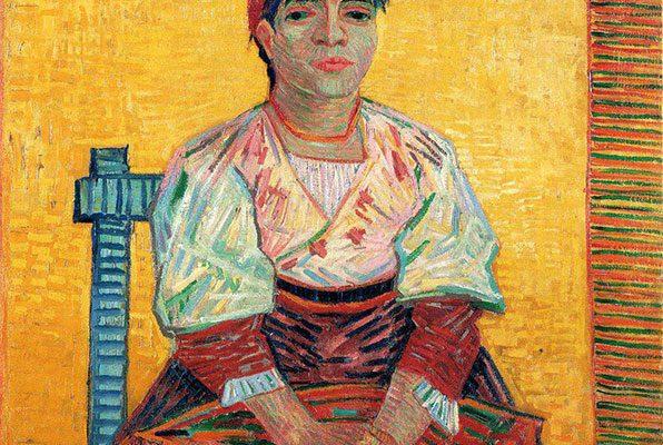 """""""زن ایتالیایی"""" اثر: ونسان ونگوگ رنگ روغن ۱۸۸۷ میلادی"""