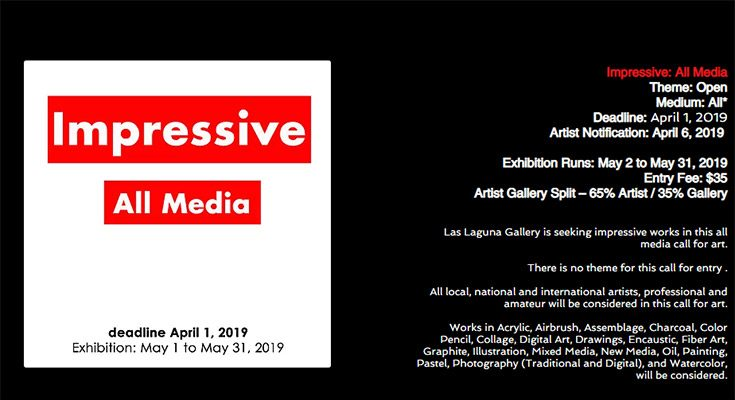 فراخوان نمایشگاه هنرهای تجسمی گالری Las Laguna کالیفرنیا