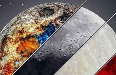 این عکس معروف سوپرمون٬ رنگارنگ بودن ماه را ثابت می کند