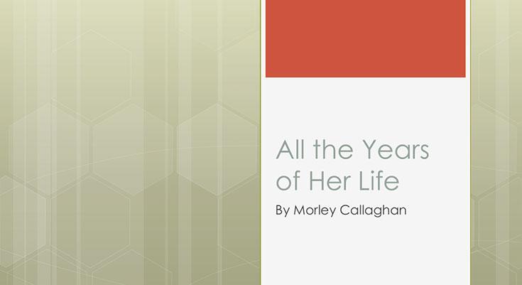 تمام سالهای زندگی او داستانی از مورلی کالاگان استیگ داگرمن