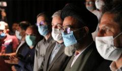 """حضور امام جمعه تبریز در نمایش """"تکه های سنگین سرب"""""""